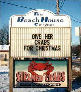 Giver Her Crabs for Christmas