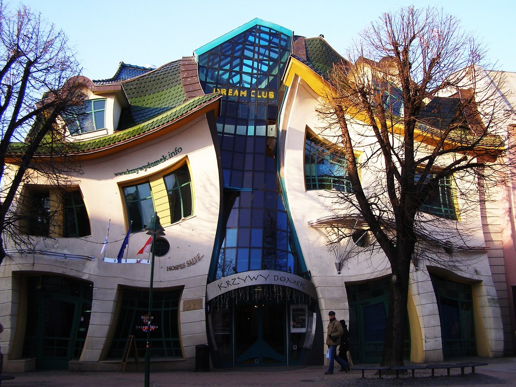 Crooked House in Poland