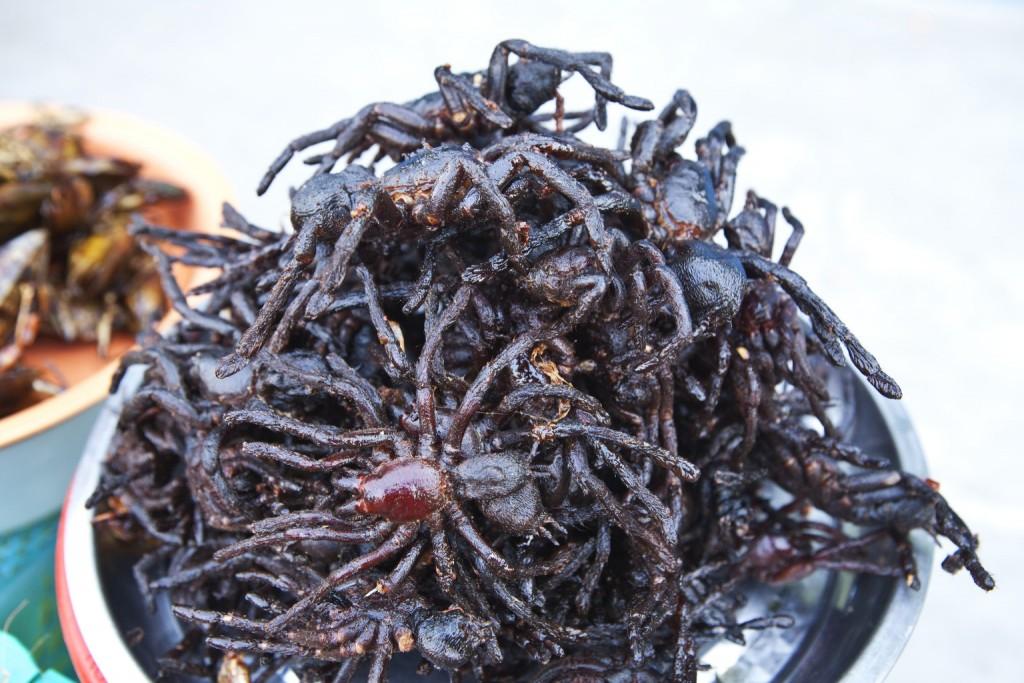 Weirdest Foods: Fried Tarantulas