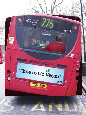 Controversial Ads: Go Vegan Bus Ad
