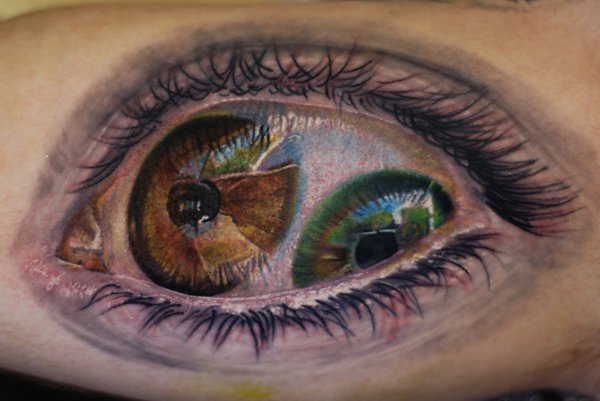 Weird Fashion: Eye Tattoo